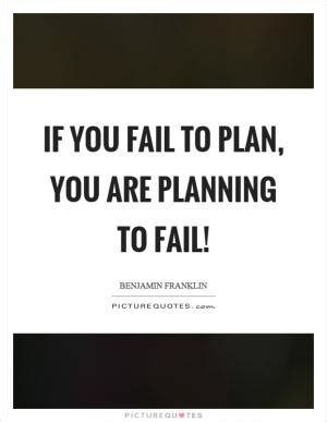 Planning to fail is failing to plan essay